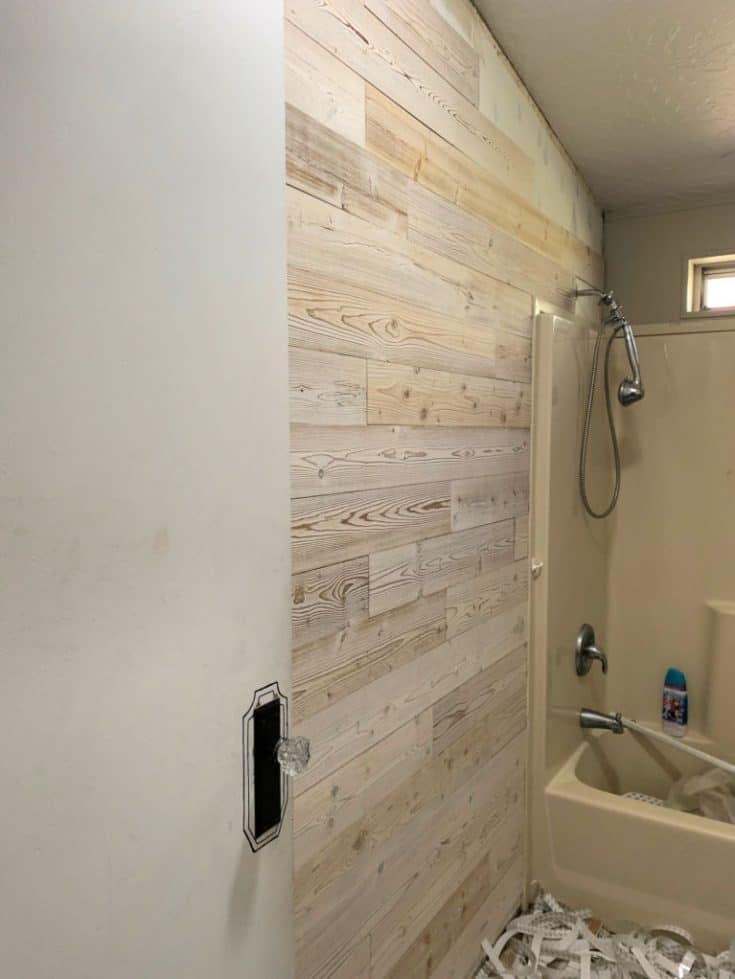 Faux Shiplap Accent Wall