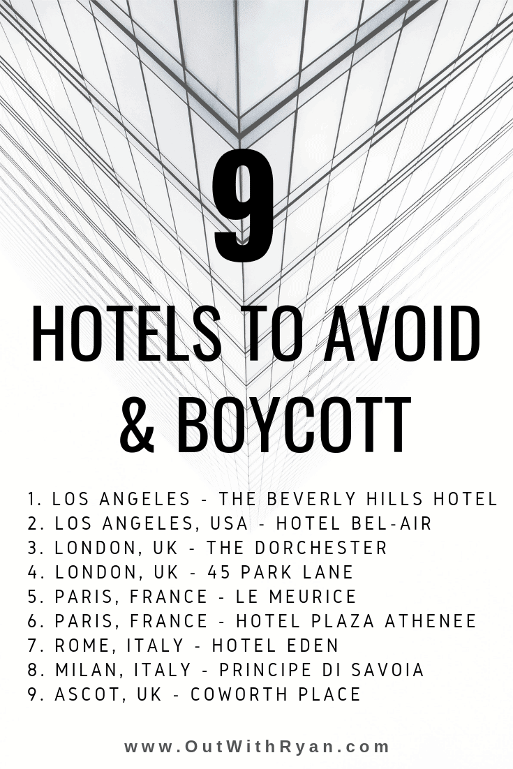 Anti LGBT Hotels to Avoid - George Clooney Boycott