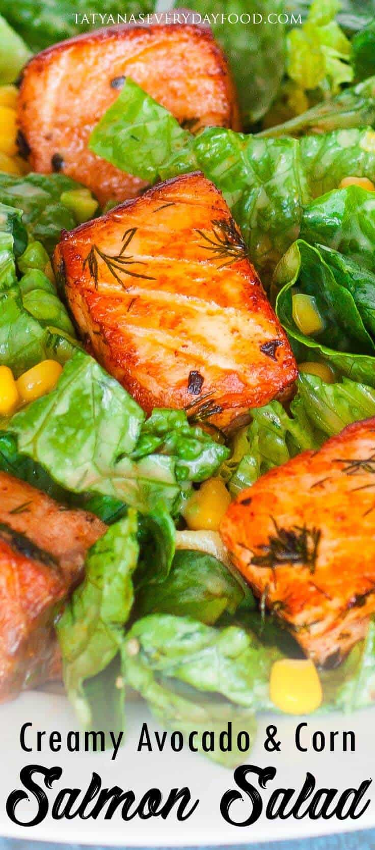 Creamy Avocado Salmon Salad video recipe