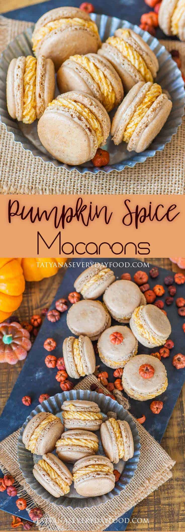 Pumpkin Spice Macarons Recipe with video