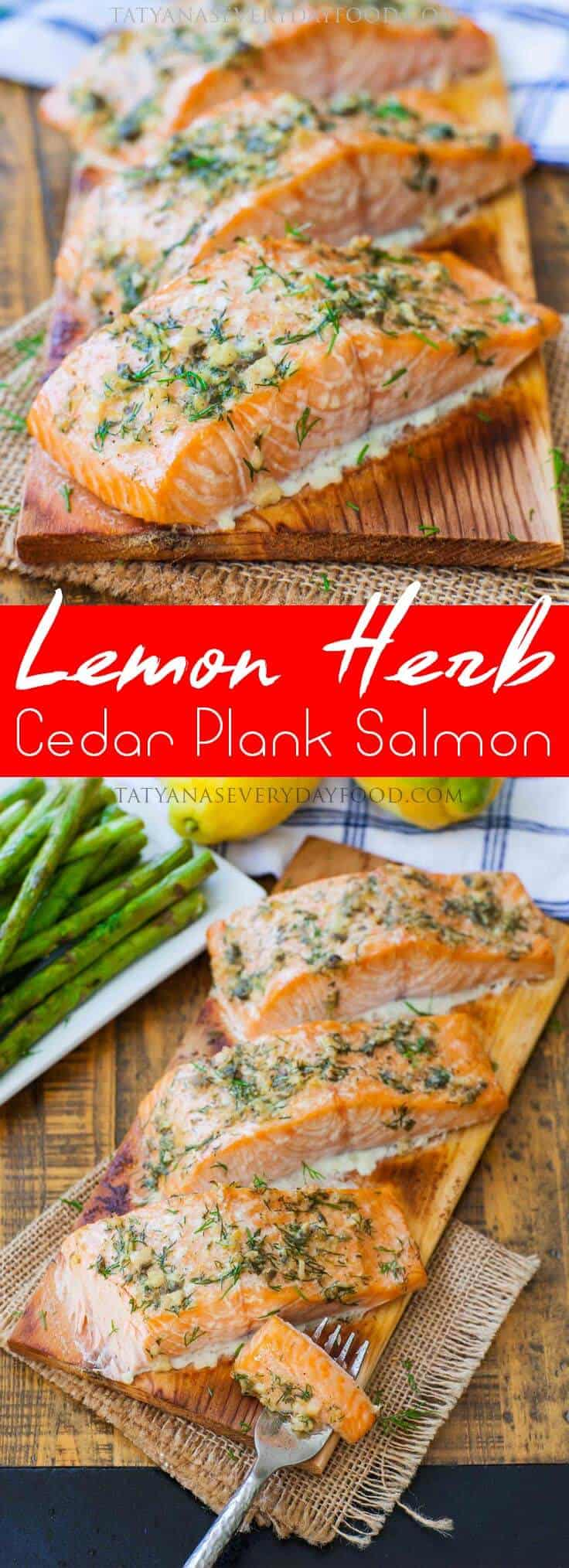 Lemon Herb Cedar Plank Salmon Recipe with video