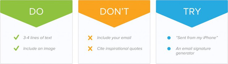 email signature rules