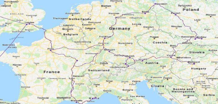 Eurotrip 2015-2016 Map
