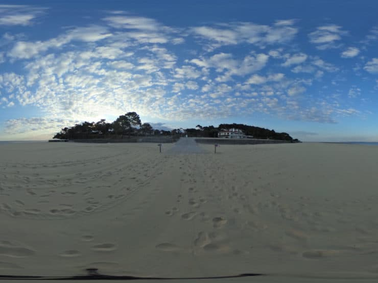 Visite virtuelle : Ré-ouverture des plages d'Arcachon