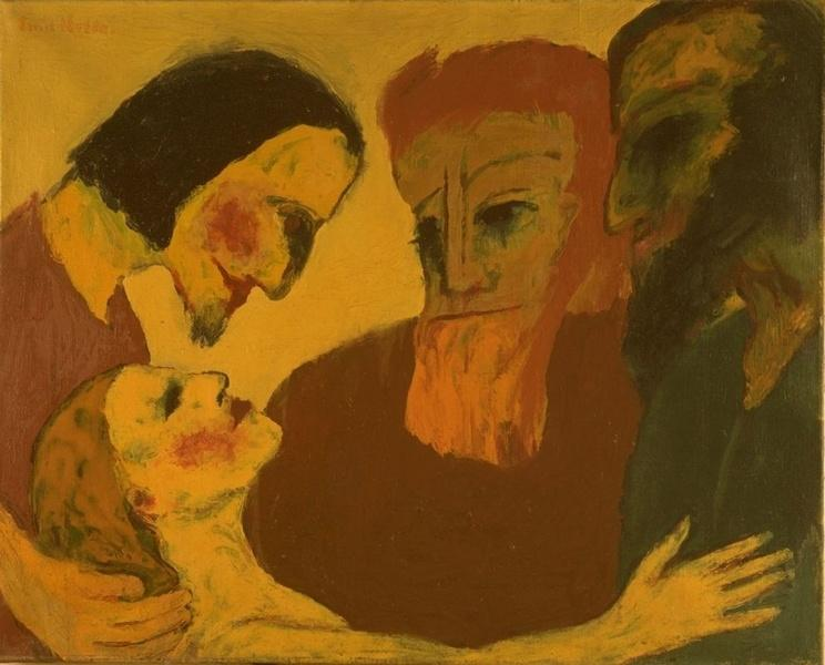 Emil Nolde, Jesus Christ and the sinner, 1926. Degenerate Art