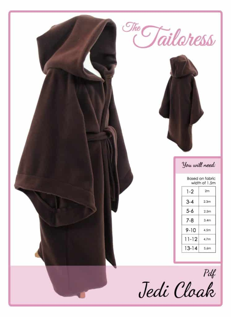 The Tailoress PDF Sewing Patterns - Jedi Cloak Tutorial