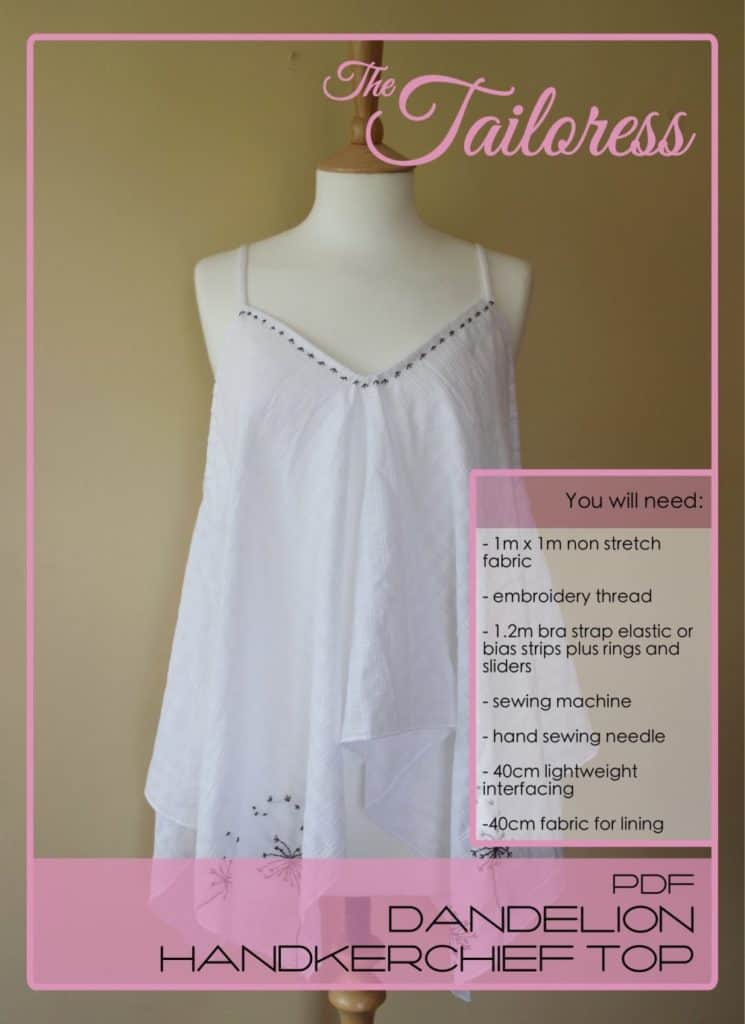 The Tailoress PDF Sewing Patterns - Dandelion Handkerchief Top