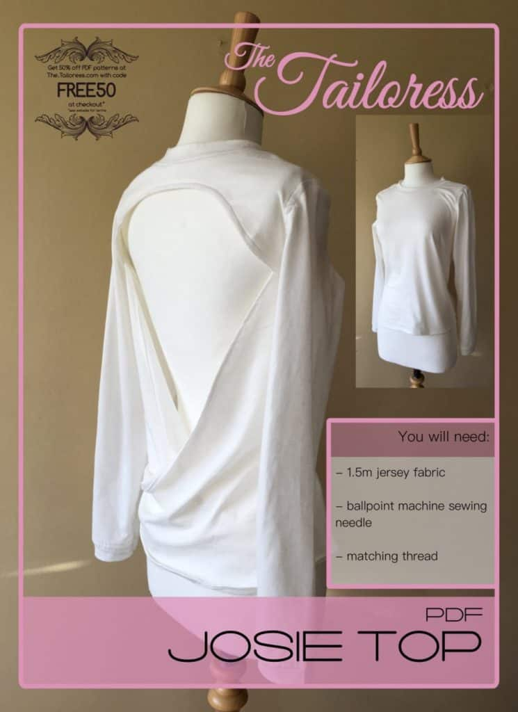 The Tailoress PDF Sewing Patterns - Josie Sway Back Top Tutorial