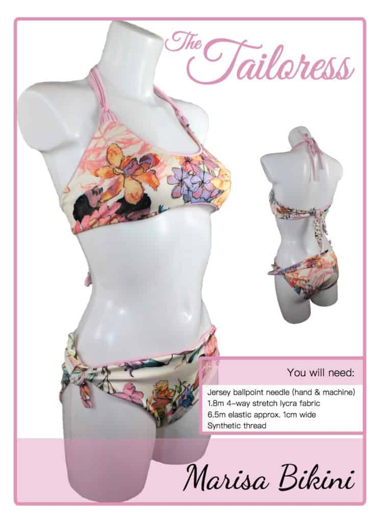 The Tailoress PDF Sewing Patterns - Marisa Bikini Tutorial