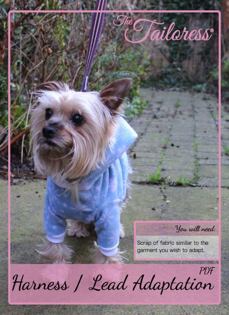 The Tailoress PDF Sewing Patterns - Adaptation for Dog Harness / Lead Tutorial