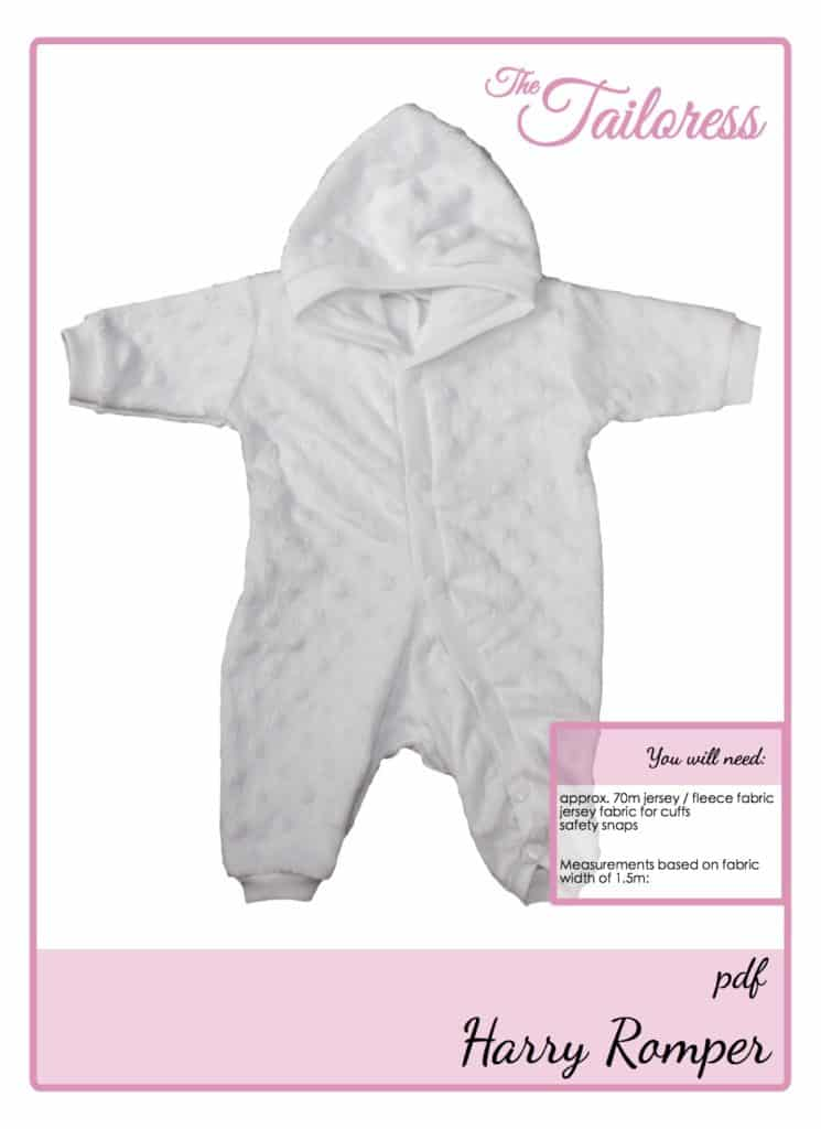 The Tailoress PDF Sewing Patterns - Harry Romper Tutorial for Babies