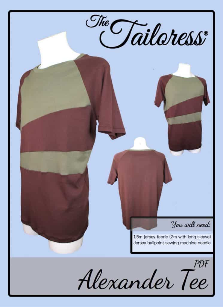 The Tailoress PDF Sewing Patterns - Alexander Tee Tutorial