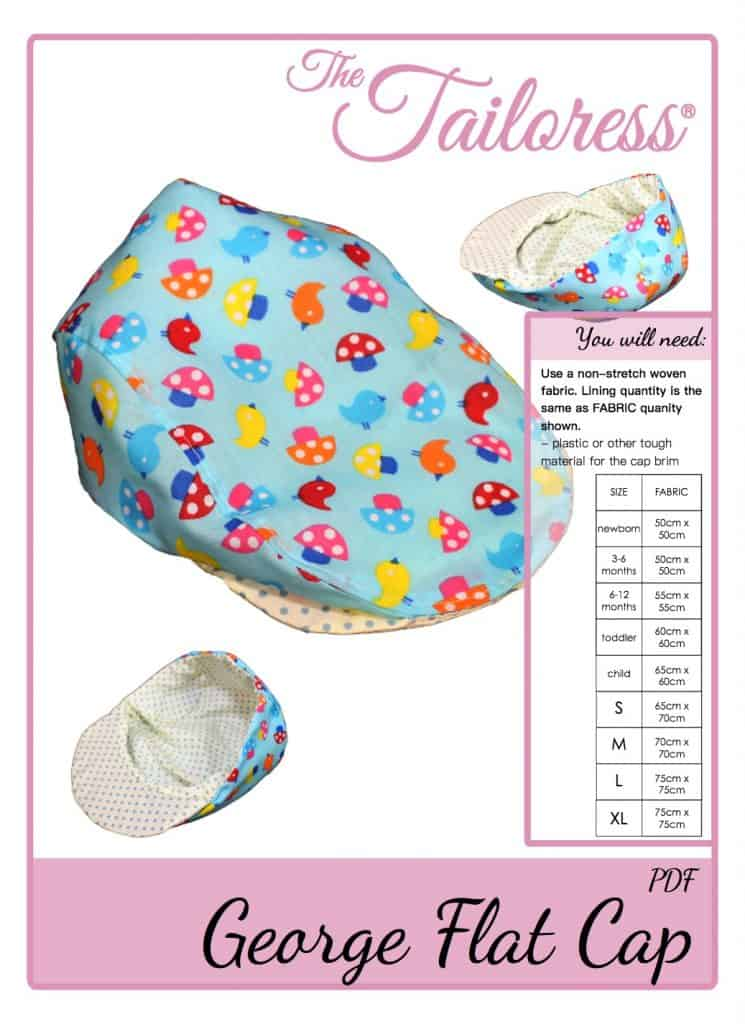 The Tailoress PDF Sewing Patterns - George Flat Cap Tutorial - Concealed Tape Version