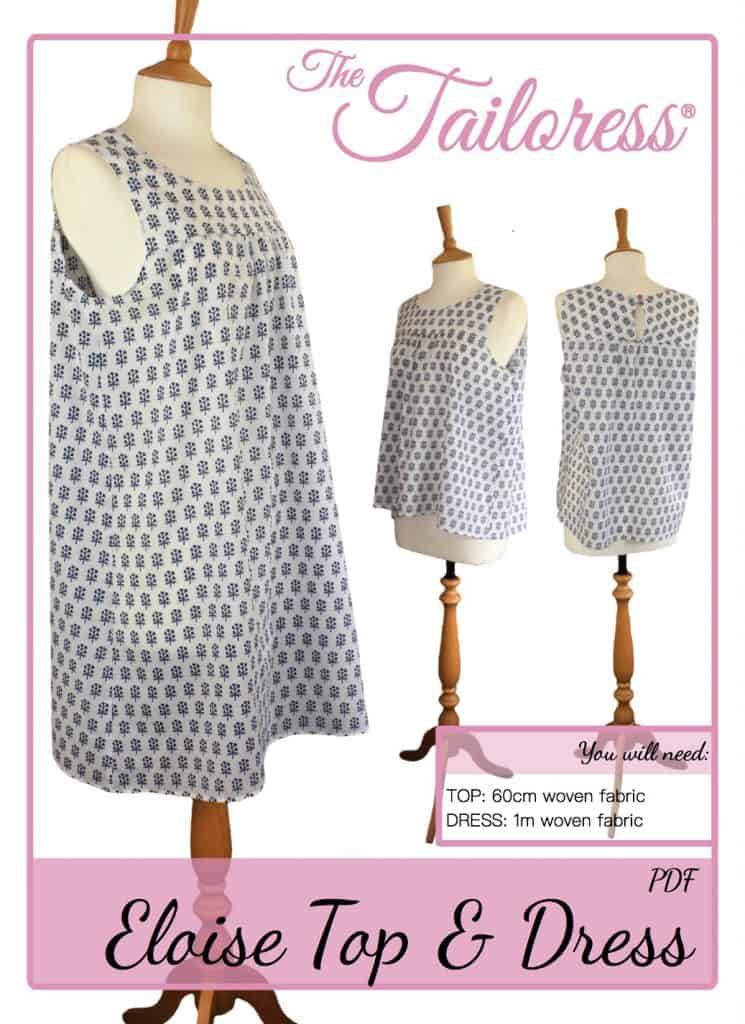 The Tailoress PDF Sewing Patterns - Eloise Top & Dress Tutorial