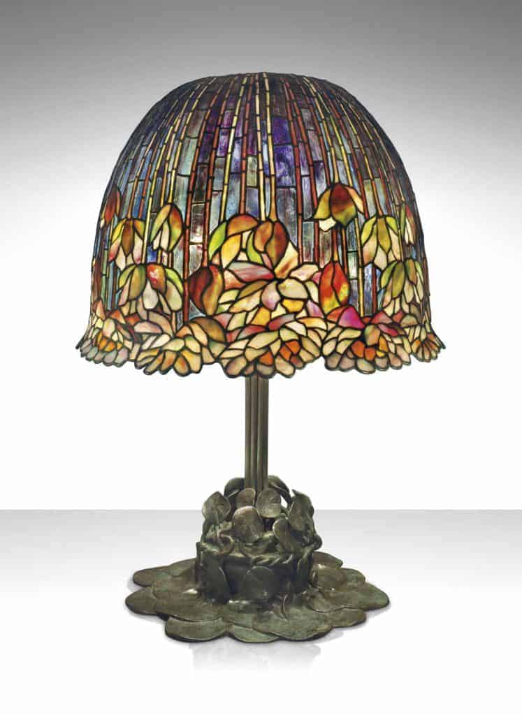 Tiffany Pond Lily Table Lamp, c. 1903.
