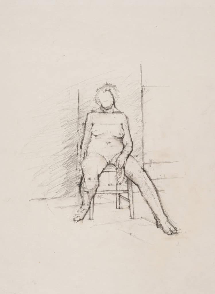 Euan Uglow, Nude Sitting on a Chair