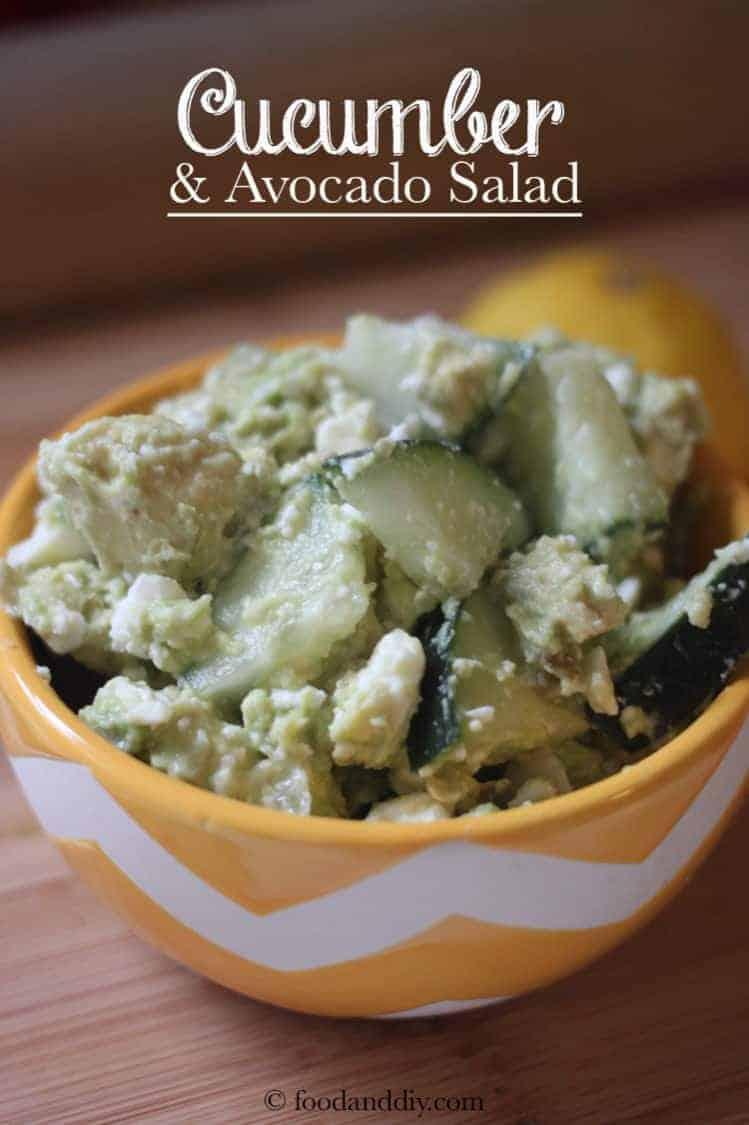 Avocado, Cucumber, & Feta Salad