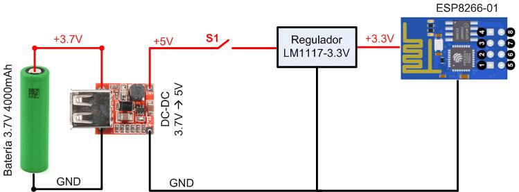 ESP8266-01 conexión