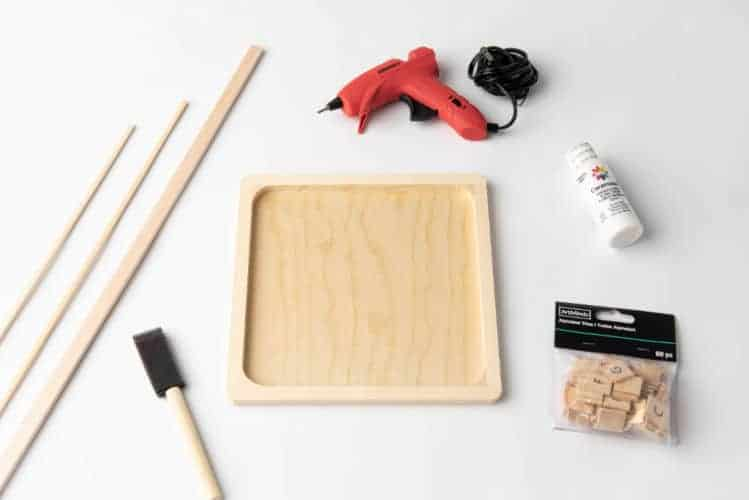 supplies to make a diy letterboard