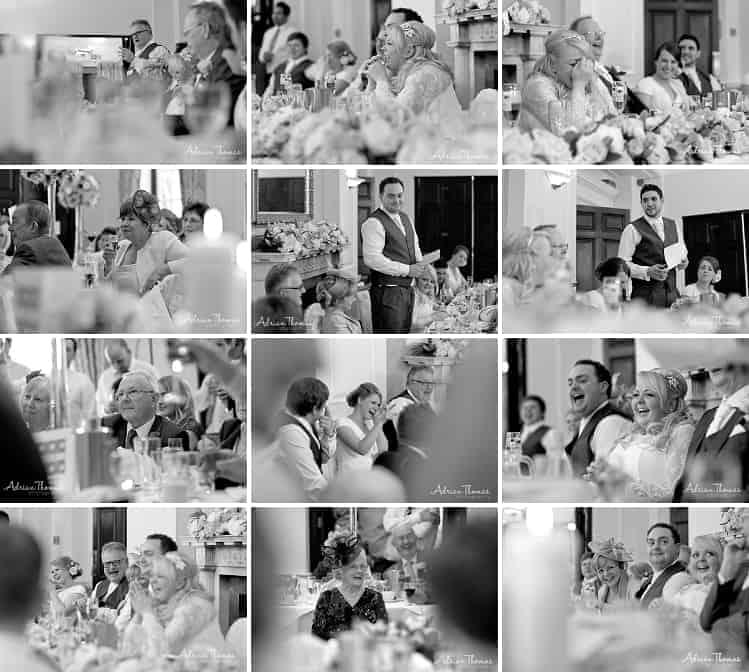 Speeches at Llansantffraed Court Hotel Wedding