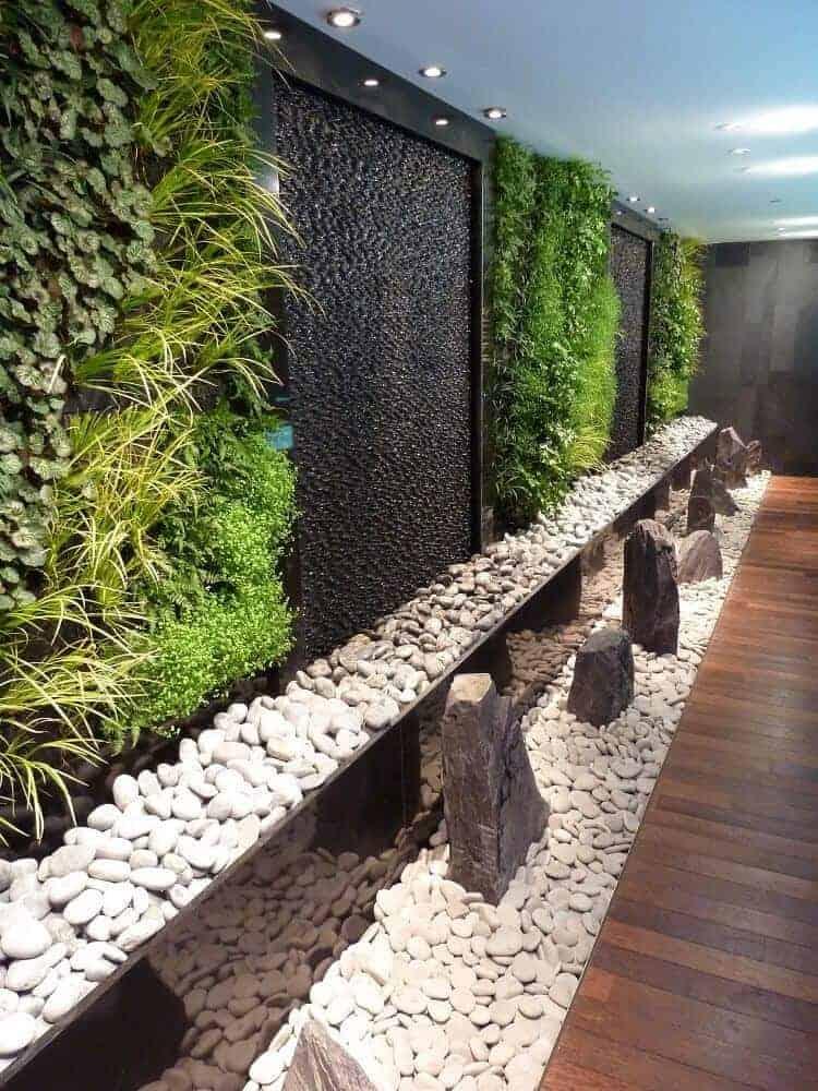 comound walls with vertical garden