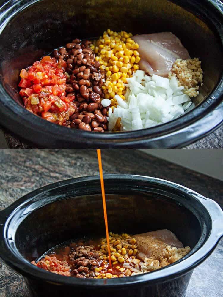 chicken enchilada soup in slow cooker