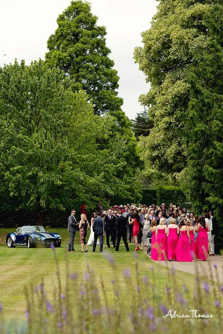 Photograph of wedding guest chilling at Dyffryn Gardens