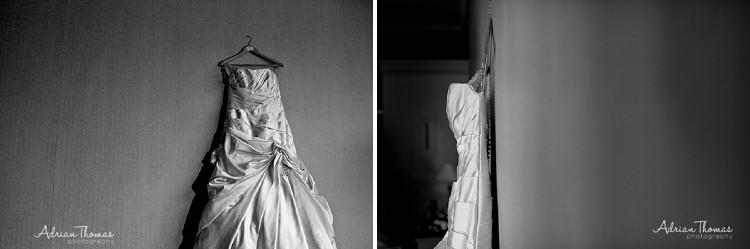 Dress hanging up