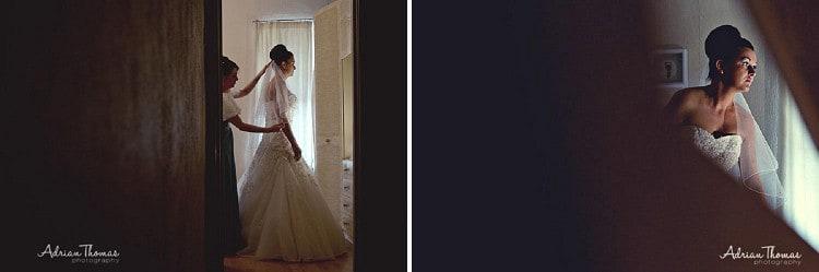 Bride dressed in wedding dress