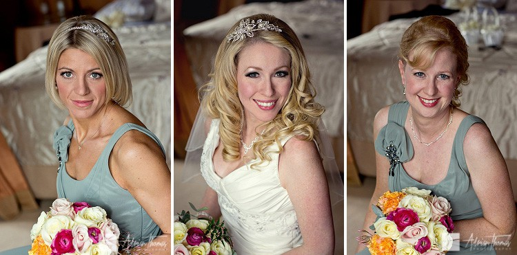 Image of Bride and bridesmaids at a wedding at Clearwell Castle