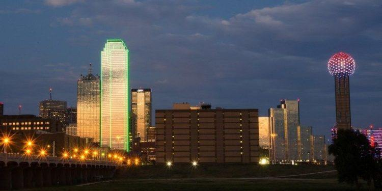 Dallas skyline with the reunion tower