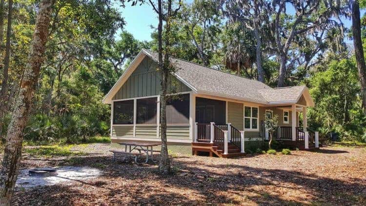 Cabin at Princess Place Preserve in Palm Coast in Flagler County.
