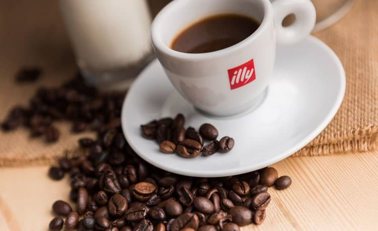 Delicious cup of Illy espresso