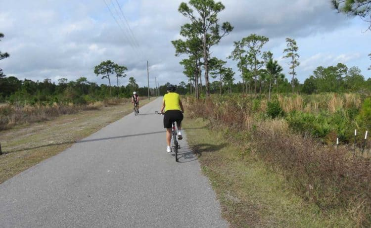 This section of the East Cosat Regional Bike Trail west of I-95 in Brevard County passes through wild and open land ona smooth 12-foot-wide paved path that goes on for miles. (Photo: David Blasco)