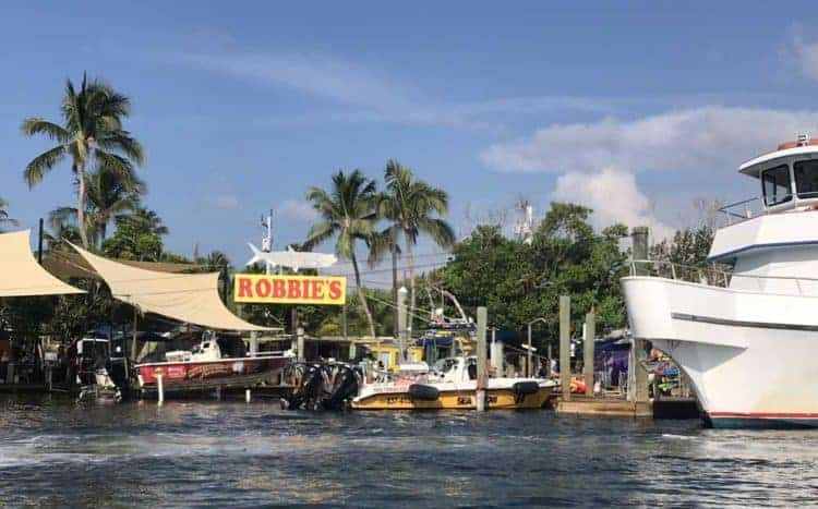 Robbie's Marina from the water. Robbie's Marina is a fun place to depart and return from. (Photo: Bonnie Gross)