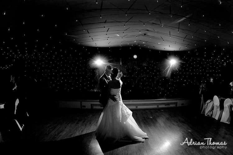 bride and grooms dancing at Maes Manor Hotel
