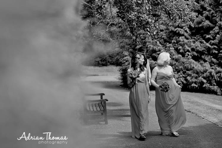Dyffryn Gardens Bridesmaids walking