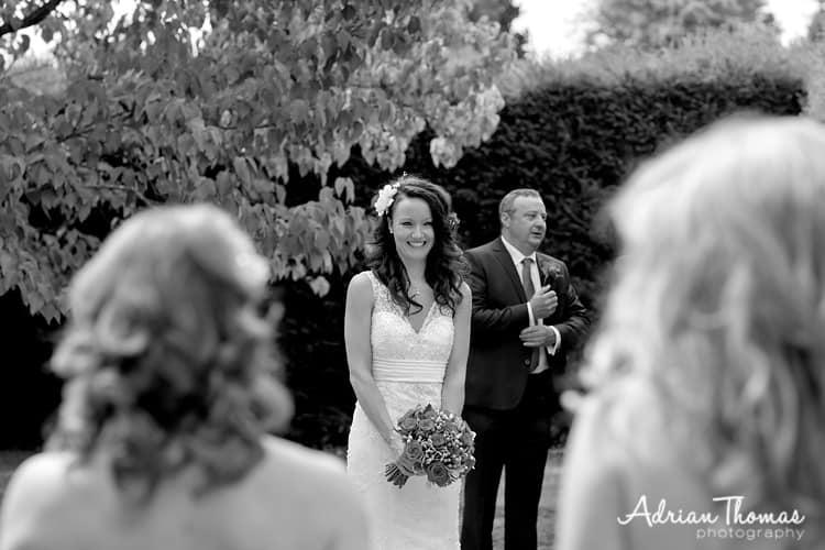 One very happy bride at Dyffryn Gardens