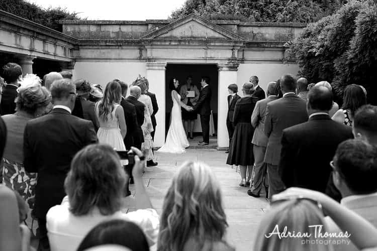 Photograph of weddiing ceremony at Dyffryn Gardens
