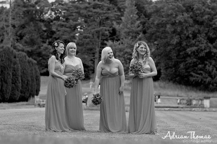 Bridesmaids relax