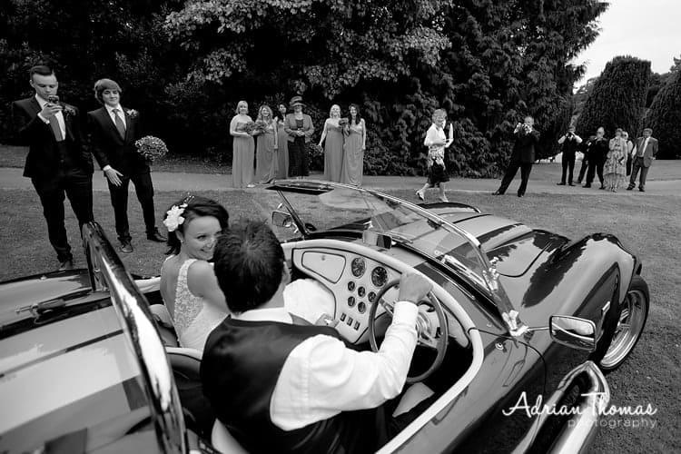 Bride & grrom ready to head off