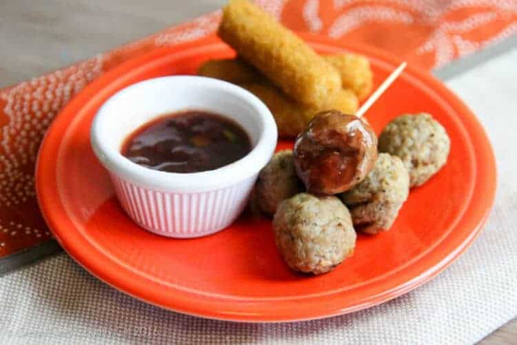 Farm Rich Meatballs with Spicy Jelly Sauce