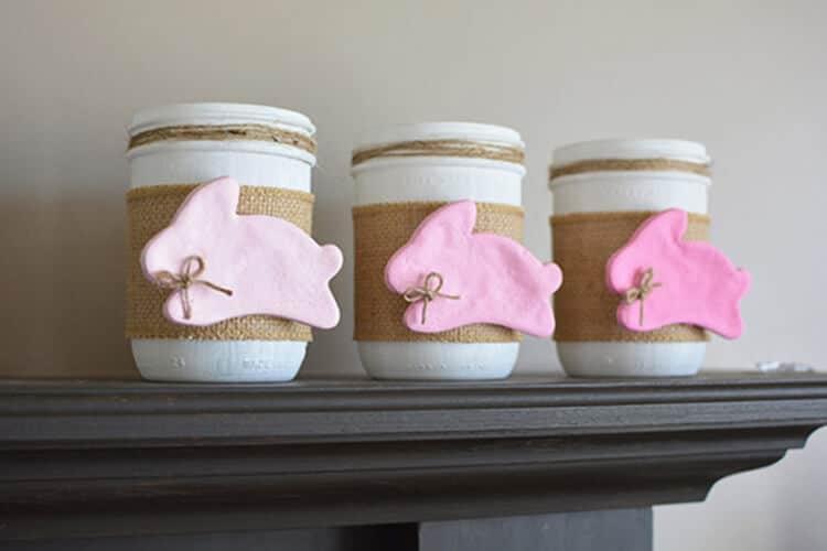 Bunny Mason Jar Craft
