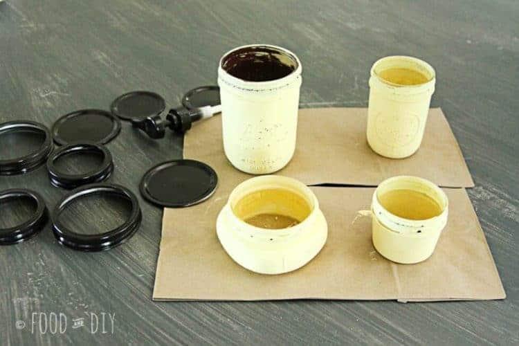 Mason Jar Bathroom Set. A simple way to add farmhouse flair to your bathroom!