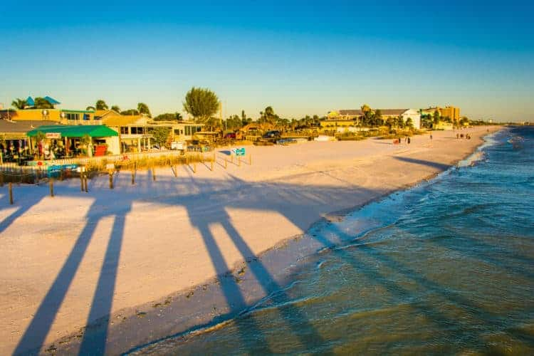 Best beach towns in Florida: Fort Myers Beach (from the pier.)