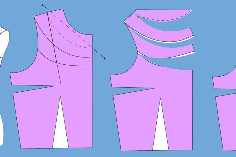 The Tailoress PDF Sewing Patterns - Creating a Cowl Neck