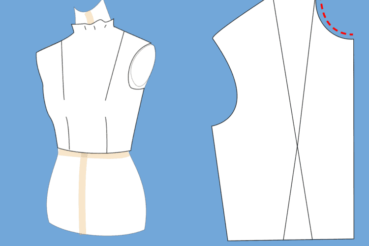 The Tailoress PDF Sewing Patterns - Altering a Neckline on a Pattern