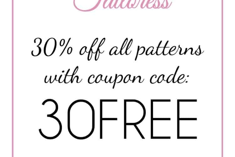 The Tailoress PDF Sewing Patterns - 30% Off All Patterns!