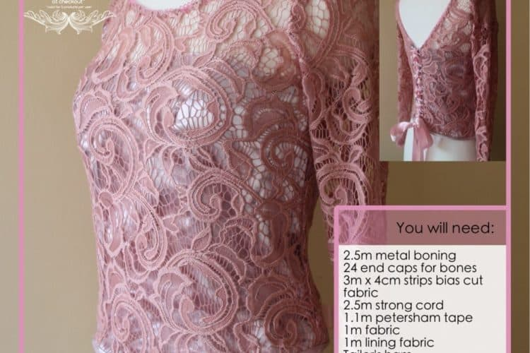 The Tailoress PDF Sewing Patterns - Stretch Lace Bodice with Corset Tutorial