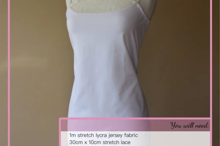 The Tailoress PDF Sewing Patterns - Aya Camisole Dress Tutorial